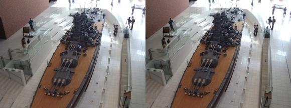 大和ミュージアム 戦艦大和復元模型⑤(交差法)