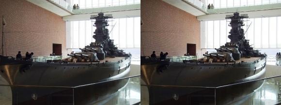 大和ミュージアム 戦艦大和復元模型③(交差法)