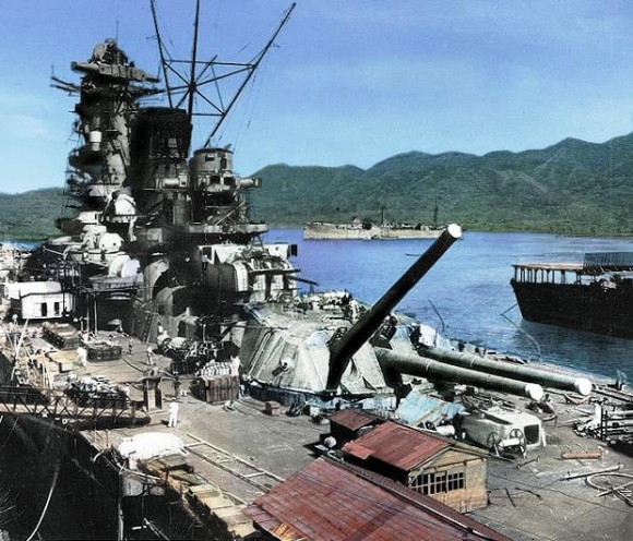 艤装中の戦艦大和