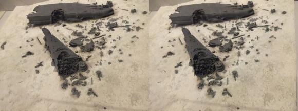 大和ミュージアム 海底に眠る戦艦大和模型(平行法)
