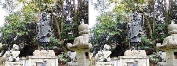 金峯山寺 役行者銅像(平行法)