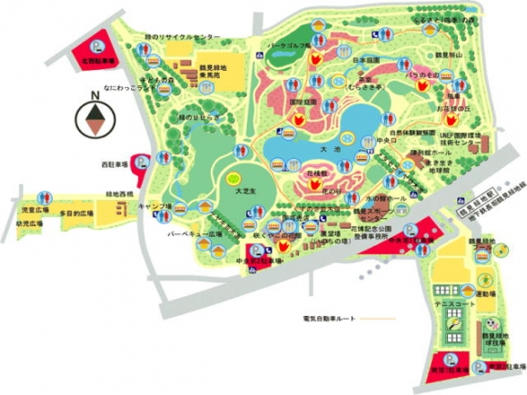 鶴見緑地公園MAP