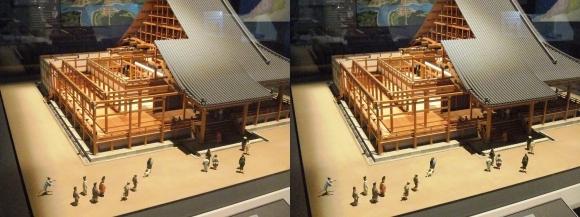 大坂本願寺御影堂ジオラマ模型②(平行法)