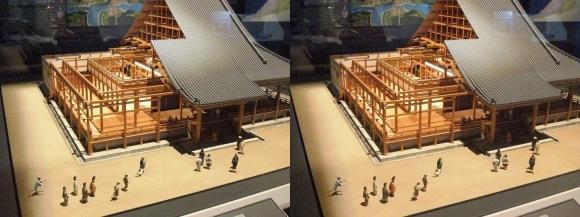 大坂本願寺御影堂ジオラマ模型②(交差法)