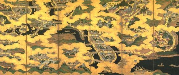 京大坂図屏風