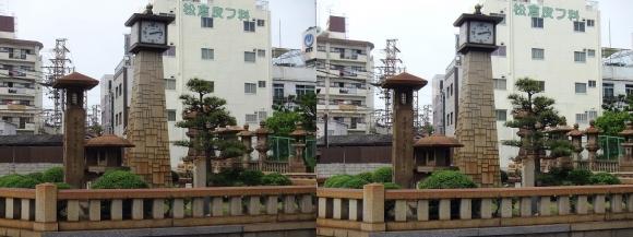 住吉大社参詣道時計塔(平行法)