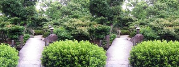 太閤園 一枚岩の石橋『諸縁吉祥の橋』③(交差法)