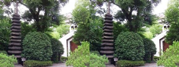 太閤園 十三重の石塔 ガーデンチャペル『ヴァンベール』(平行法)