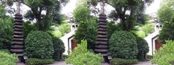 太閤園 十三重石塔 ガーデンチャペル『ヴァンベール』(交差法)