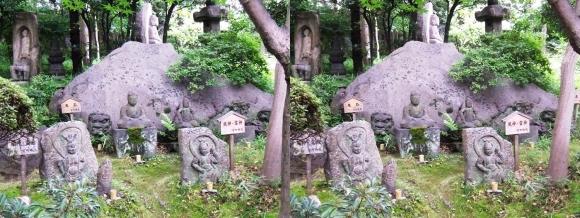 太閤園 石仏②(交差法)