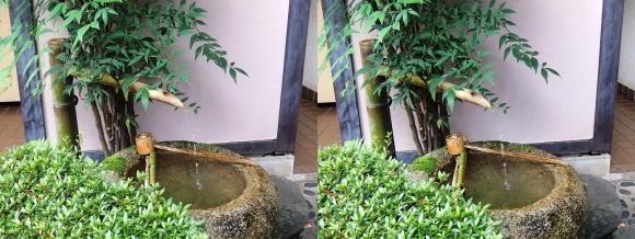 太閤園 庭園入口 鹿威し(平行法)