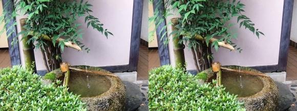 太閤園 庭園入口 鹿威し(交差法)