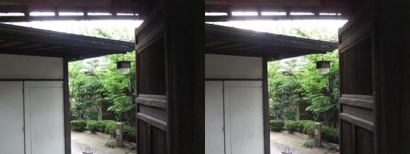 太閤園 庭園入口(交差法)