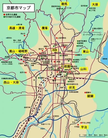 京都市マップ