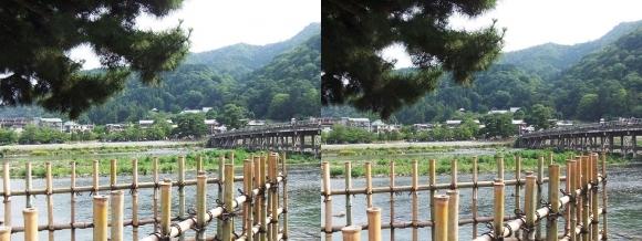 渡月橋④(交差法)