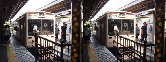 京福電気鉄道嵐山本線嵐山駅①(交差法)
