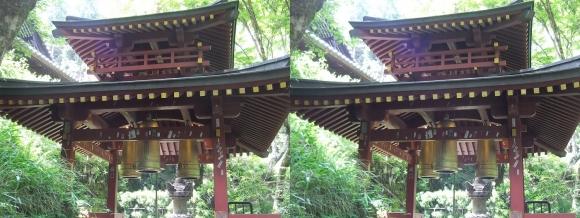 愛宕(おたぎ)念仏寺 三宝の鐘(平行法)