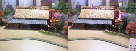 京都市嵯峨鳥居本町並み保存館 一の鳥居と茶店ジオラマ模型② (平行法)