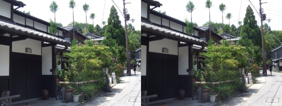 嵯峨鳥居本 重要伝統的建造物郡保存地区①(交差法)