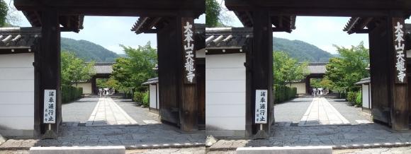 天龍寺総門(平行法)