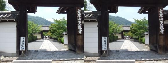 天龍寺総門(交差法)
