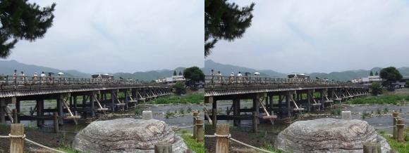 渡月橋②(交差法)