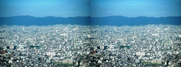 あべのハルカス眺望東大阪(平行法)