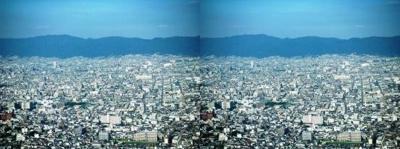 あべのハルカス眺望東大阪(交差法)