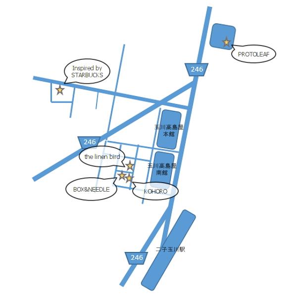 二子玉川お散歩Map