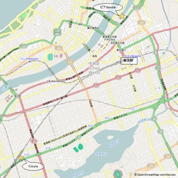 OpneStreetMap 新潟市