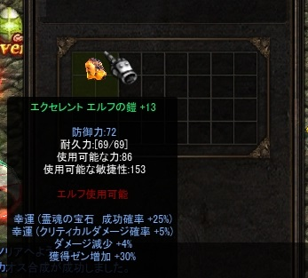 EXエルフ鎧13L減ゼン