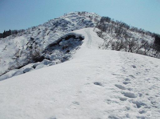 山頂部を見ながら登る