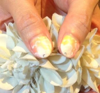 ジェルネイル画像 春ネイル グラデーションネイル お花ネイル