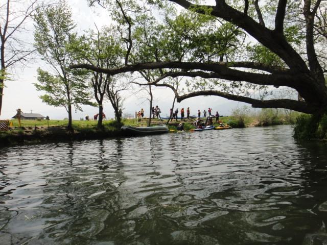 万井川から蓼川へ溯る