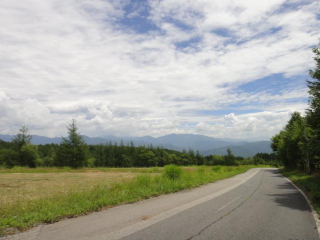 中央アルプス駒ヶ岳方面