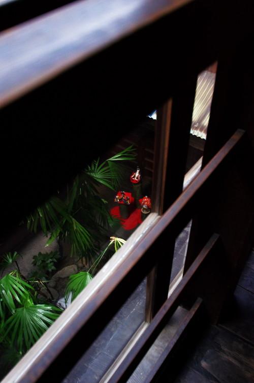 ひなかざり 川本邸 中庭俯瞰