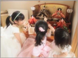 雛人形と撮影