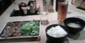 牛カルビと豚カルビの焼肉定食