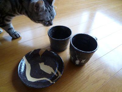 sakusakuさんの猫食器たち♪