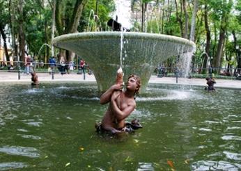 都市 緑 噴水