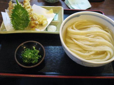 冷やかけ天ぷら三種盛付