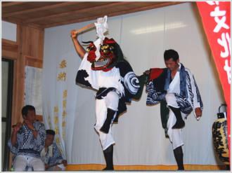 麻賀多神社獅子舞1