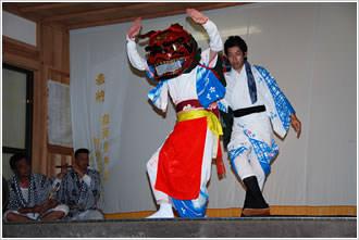 麻賀多神社獅子舞2