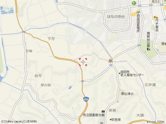 麻賀多神社台方地図