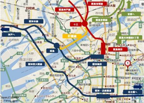 姫島十三地図