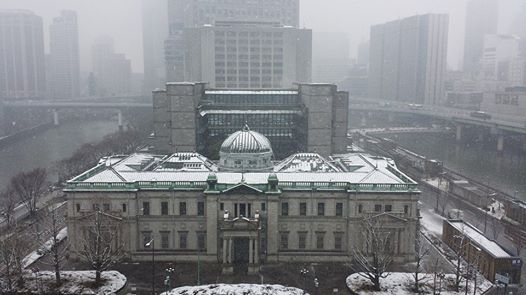雪の旧日本銀行