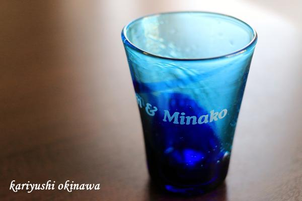 琉球ガラスの彫刻