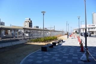 駅前広場の拡幅工事