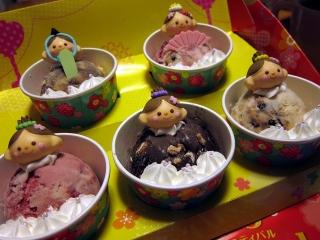 31アイスクリーム ひなだんかざり