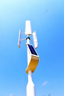 中学校 風力発電機